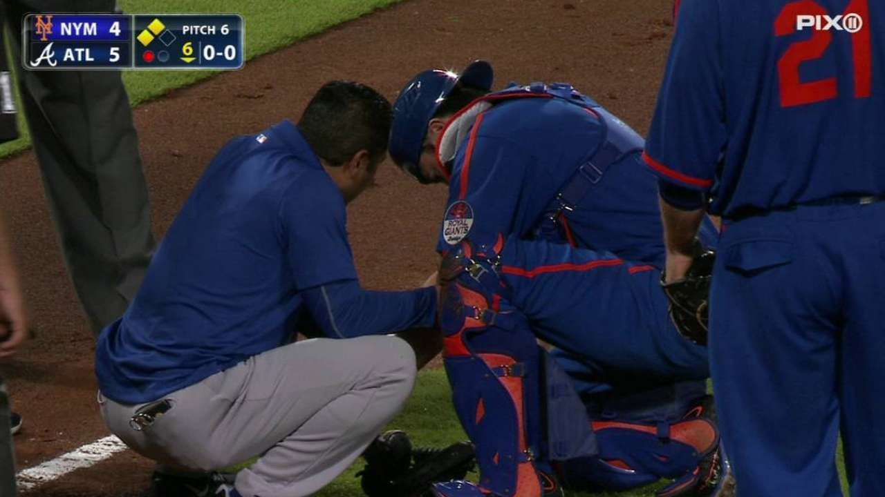 d'Arnaud placed on DL with left elbow sprain