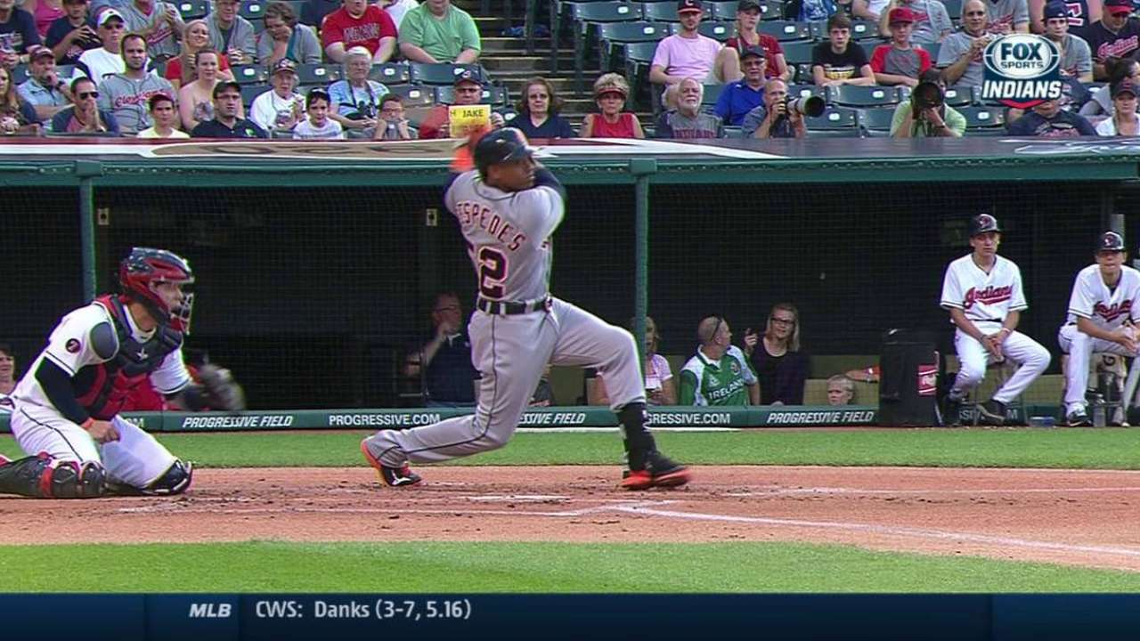 Cespedes' RBI ground-rule double