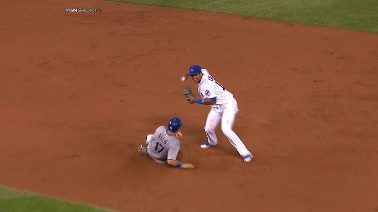 Wood starts double play