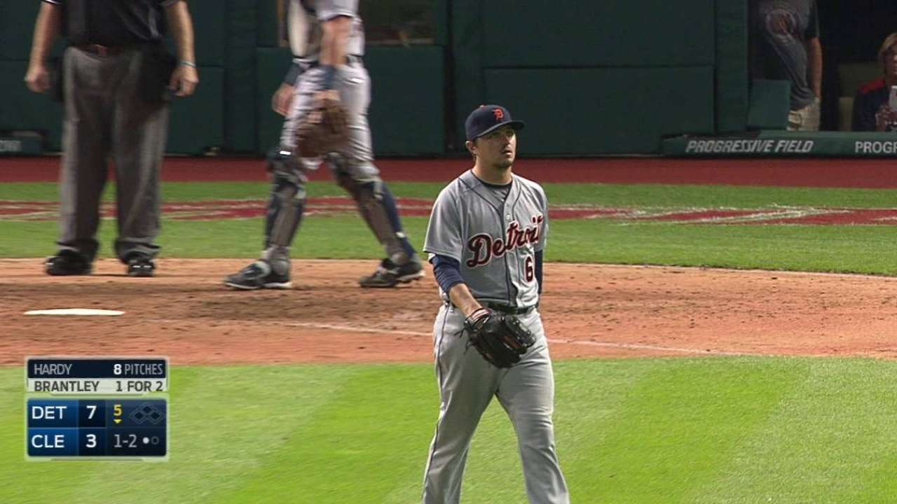 Tigers to activate Hardy ahead of KC series