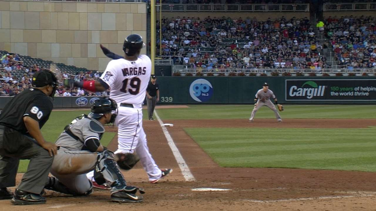 Vargas perfect at the plate