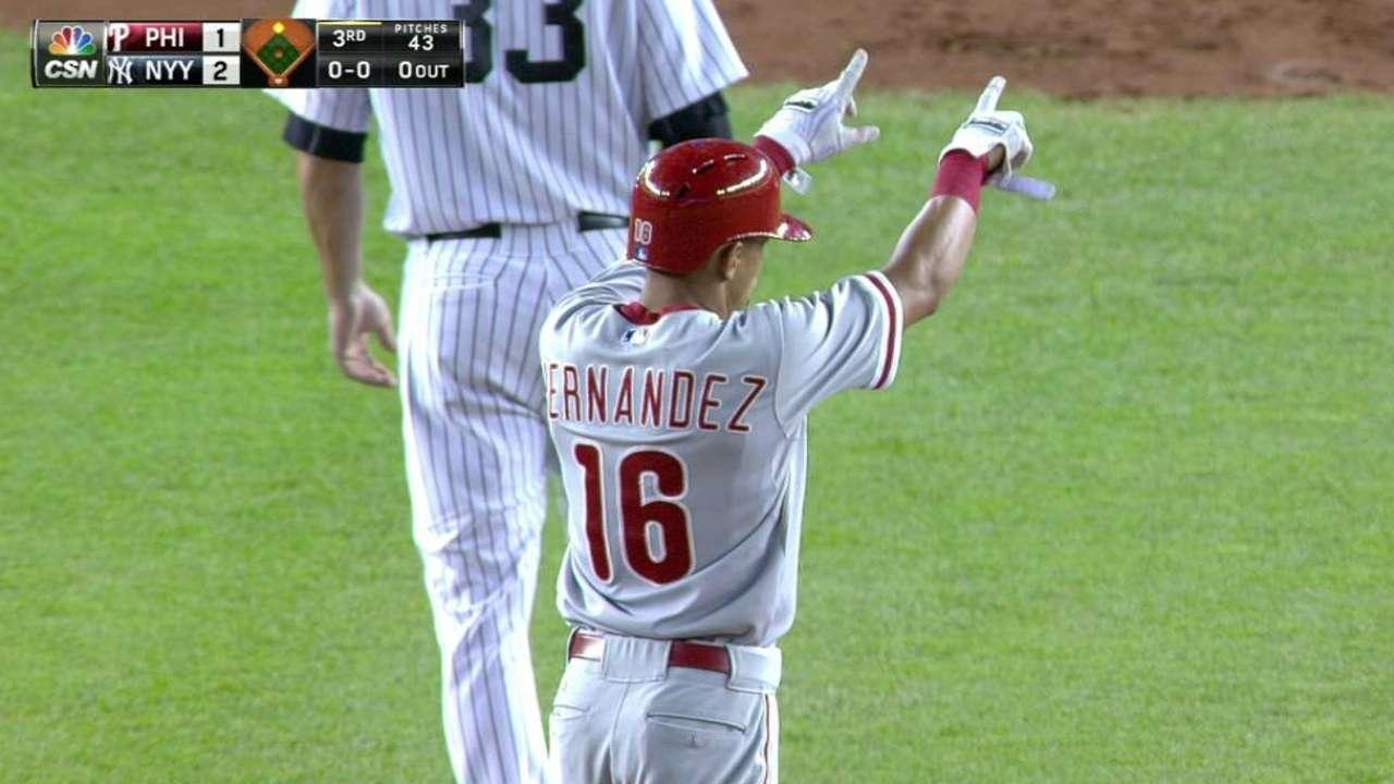 Hernandez's RBI double