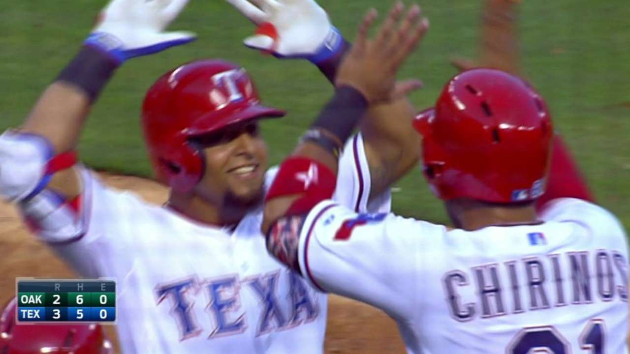 Odor, Andrus star, but Rangers fall to A's