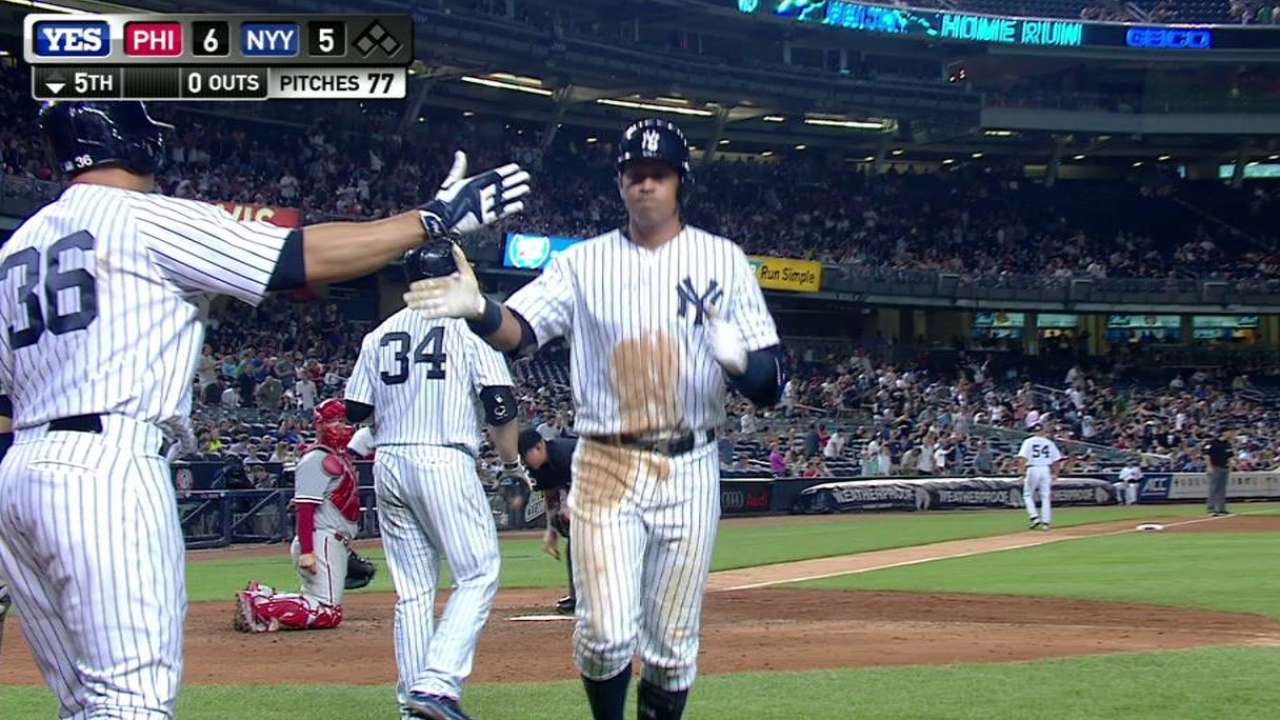 A-Rod's back-to-back home run