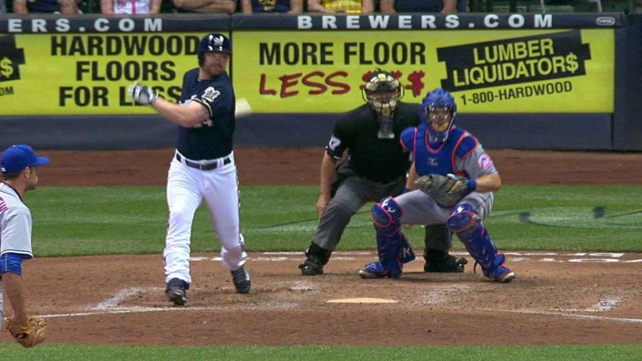 Cerveceros se imponen a Mets tras error de Cuddyer
