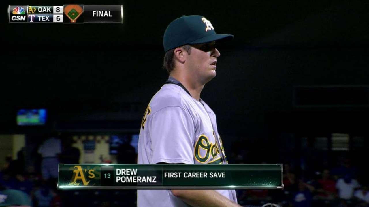 Pomeranz's first career save