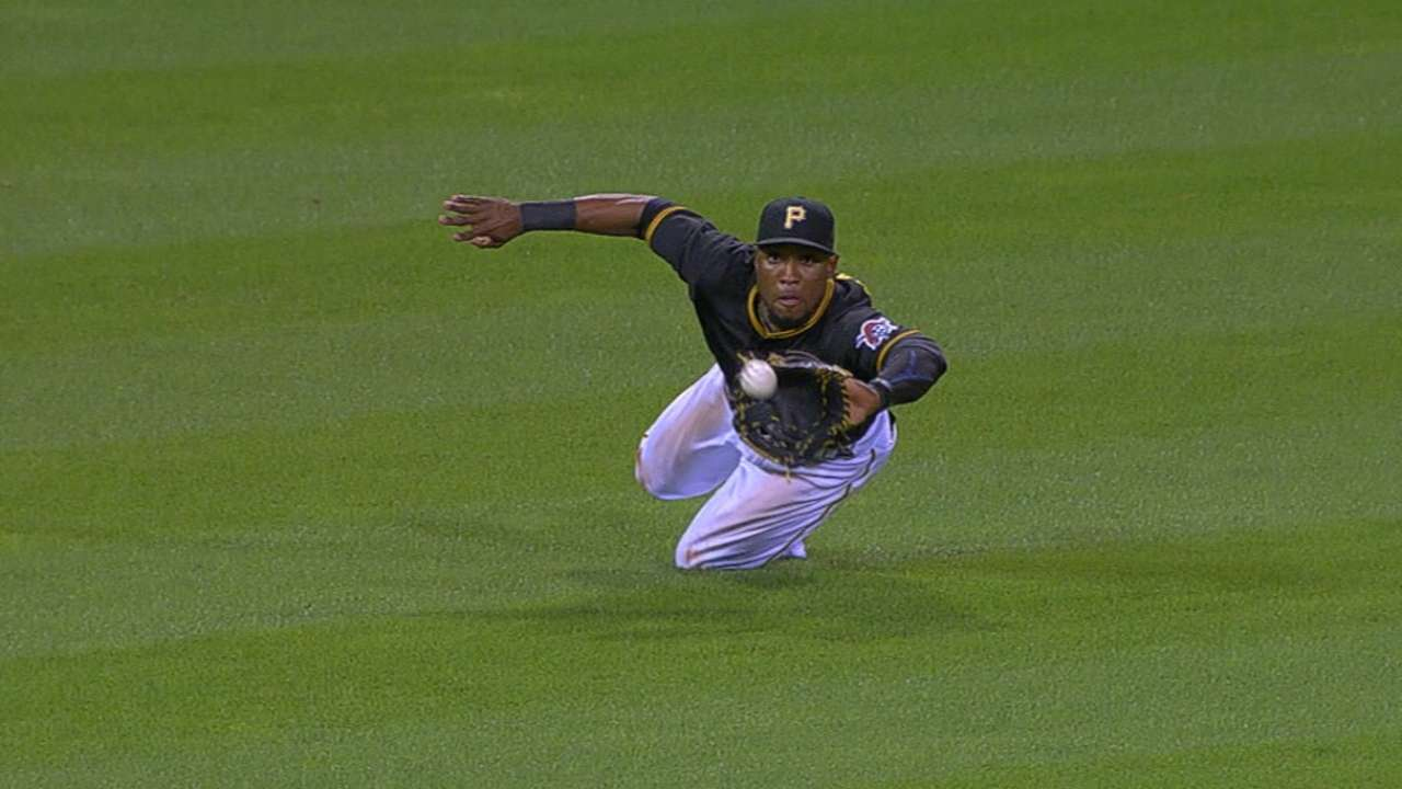 Marte's catch highlights bullpen's big night