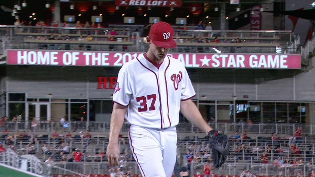 Stras sharp in return as Nats top Braves