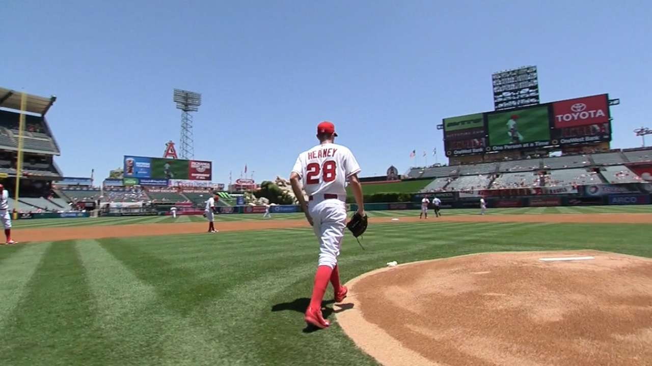 Efficient Heaney impresses in Angels debut