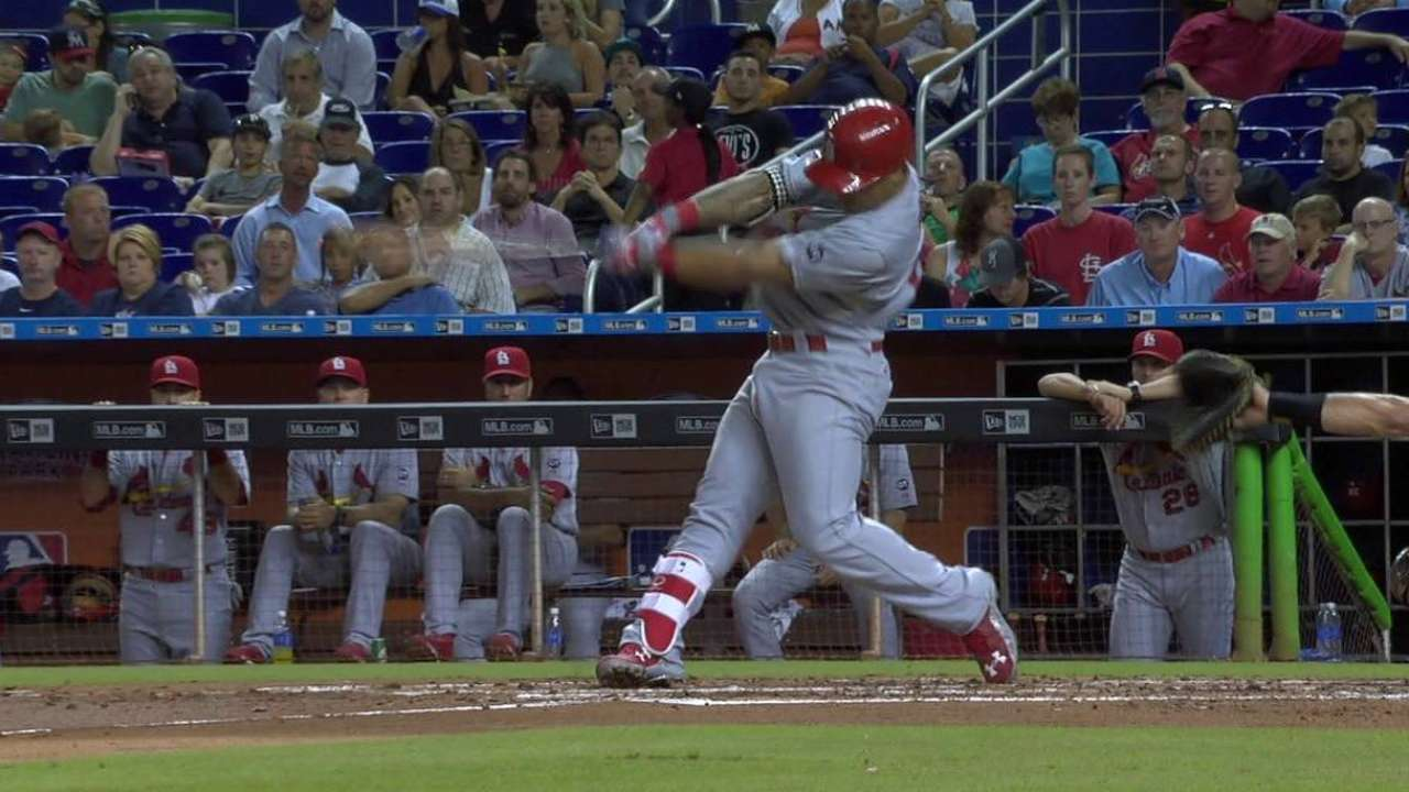 Miami heat: HRs carry Cards past Fish