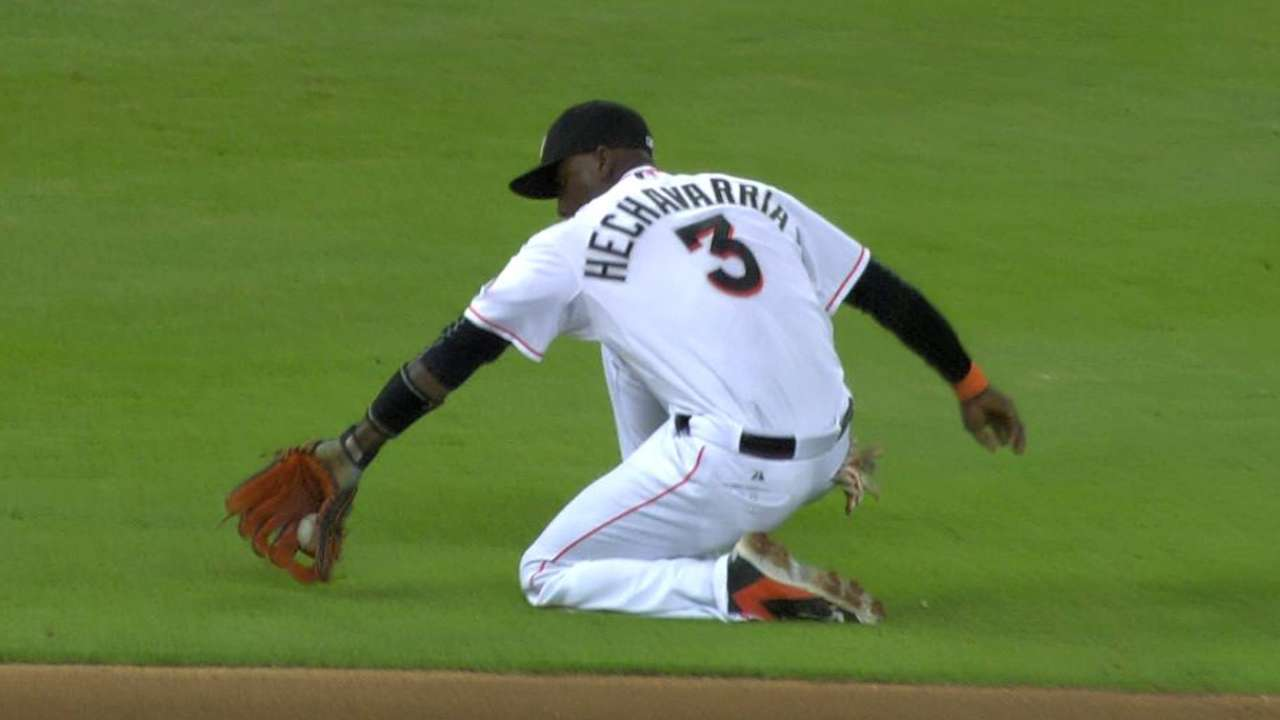 Hechavarria's throw from knee