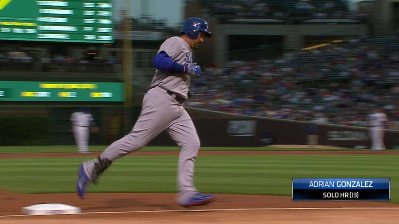 González, Turner jonronean y Dodgers detienen a los Cachorros