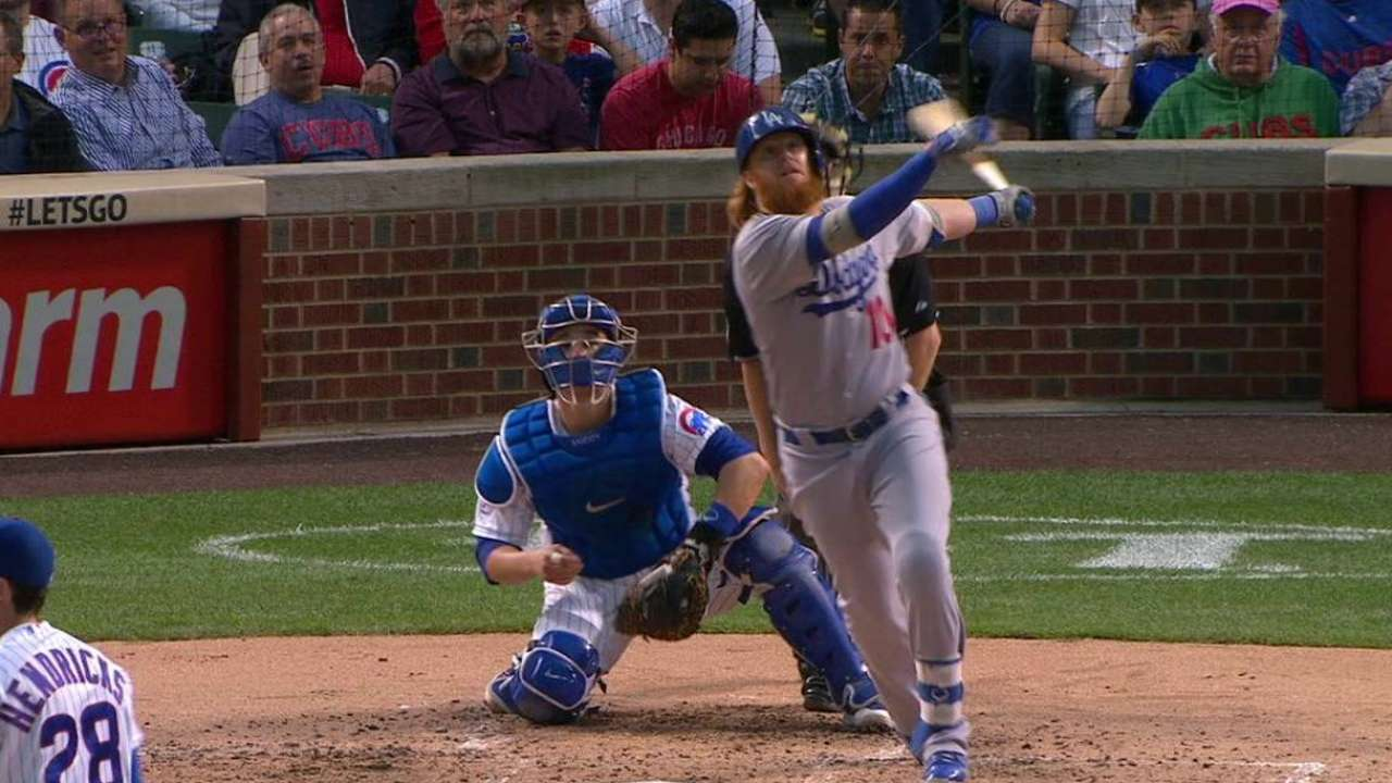 Turner's blast keys Dodgers' win over Cubs