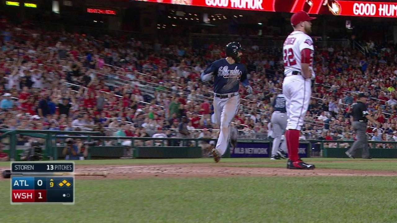 K. Johnson ties game in 9th
