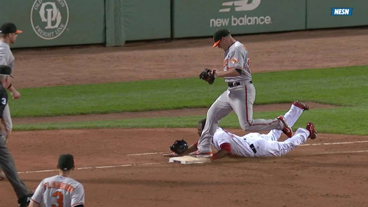 Orioles have atypical night in field