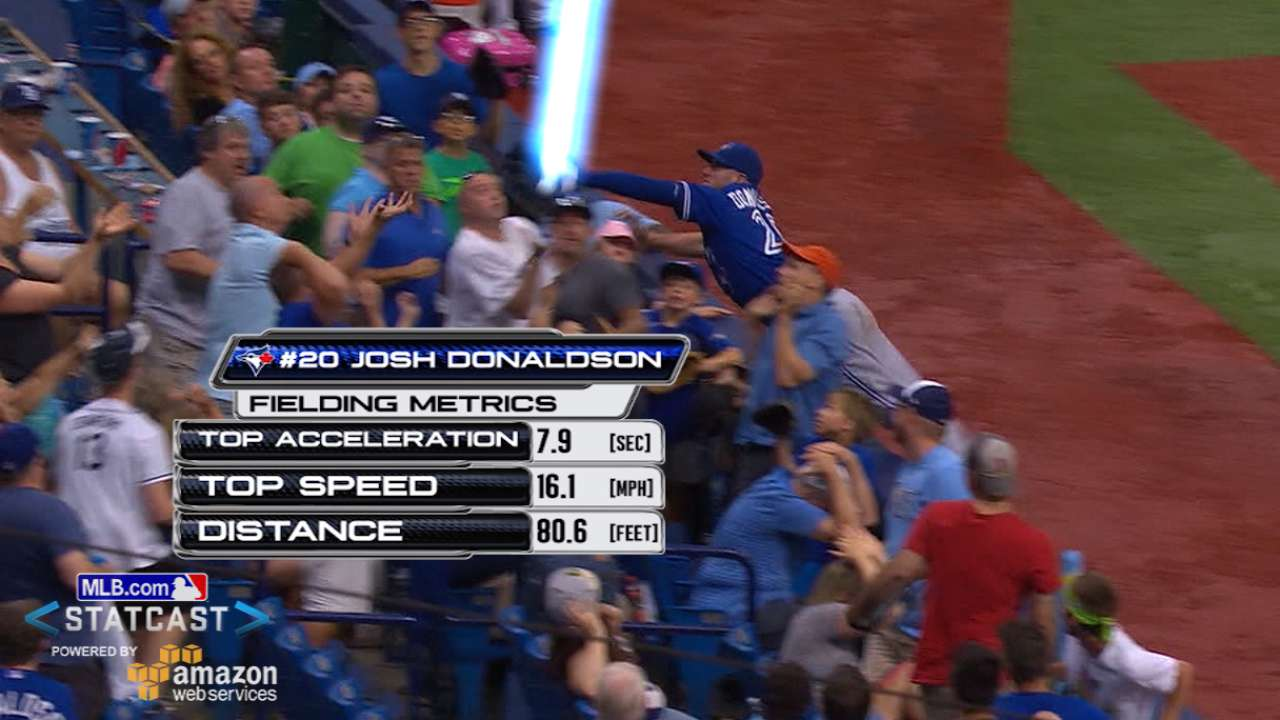 Donaldson soars into seats for super snag