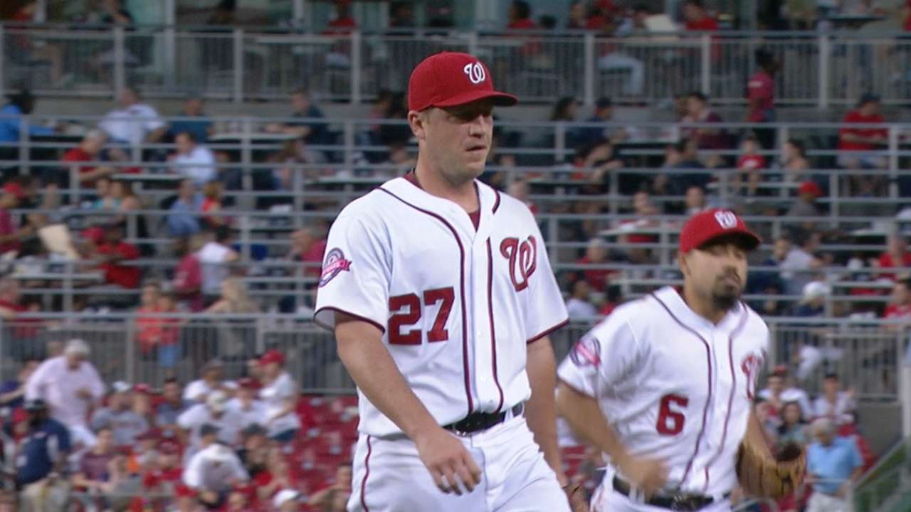Zimm extends Nats starters' scoreless streak