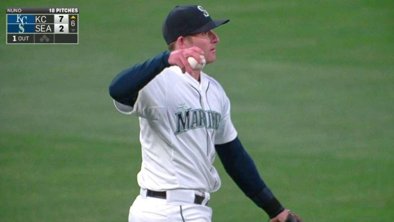 Miller's strong throw