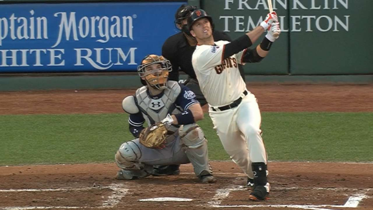 Posey's slam sets pace in shutout of Padres
