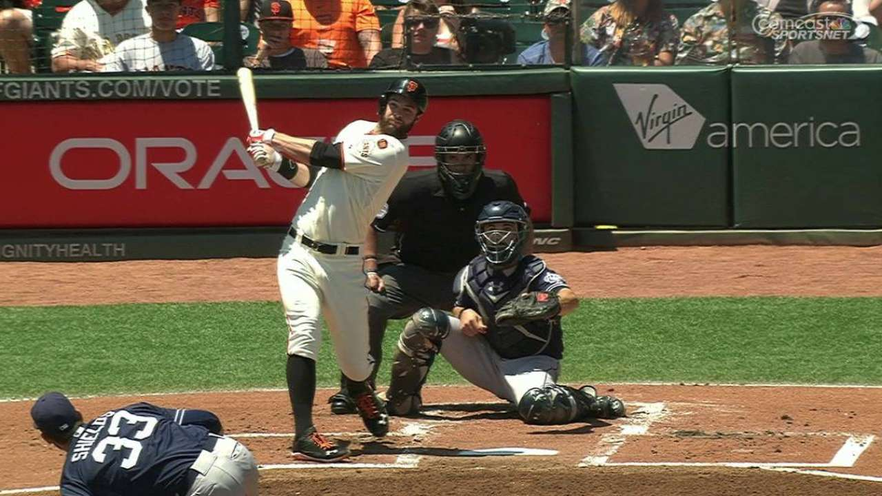 Triple-happy Giants hold off Padres