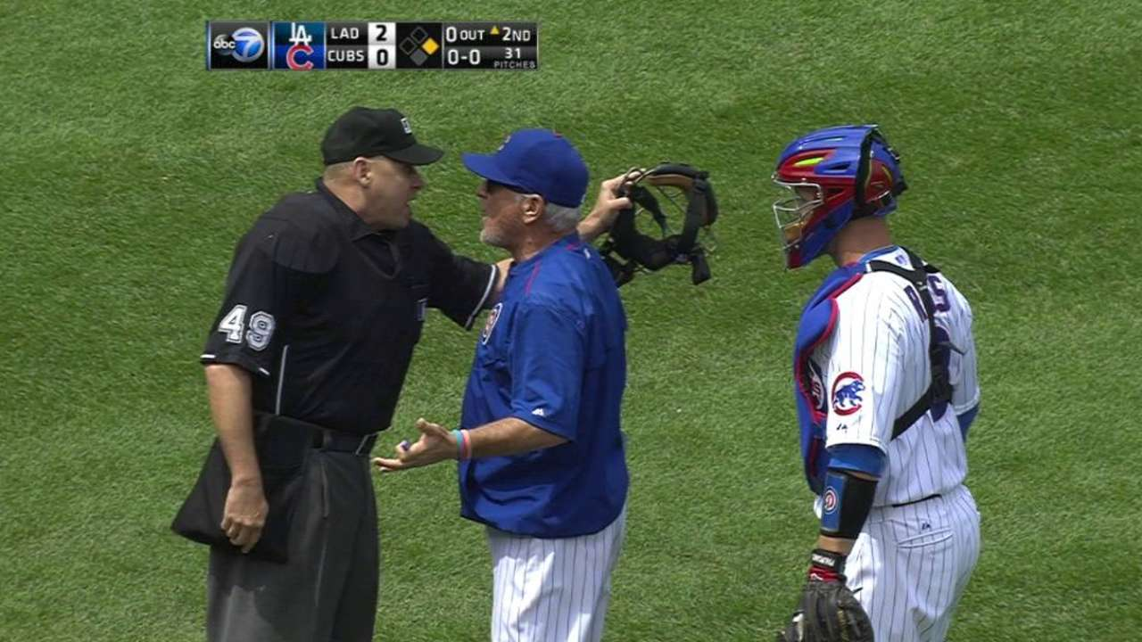 Lester frustrated, but not with home-plate ump