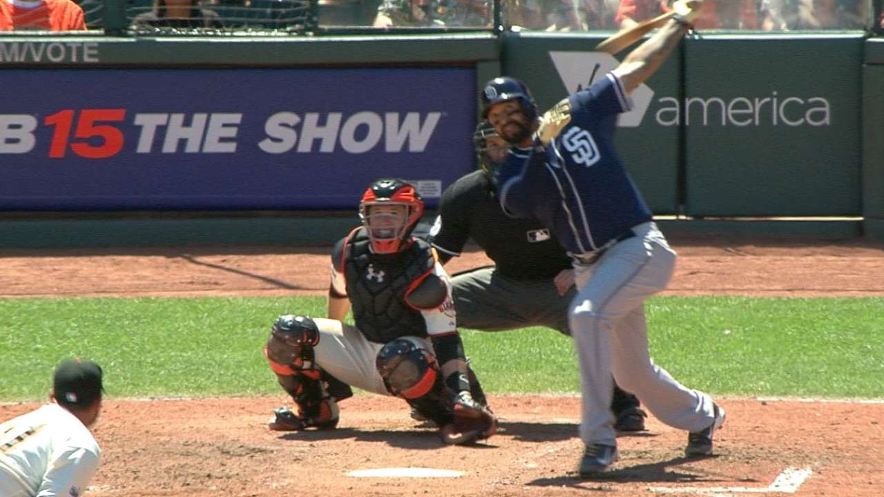 Padres' six-run 8th inning