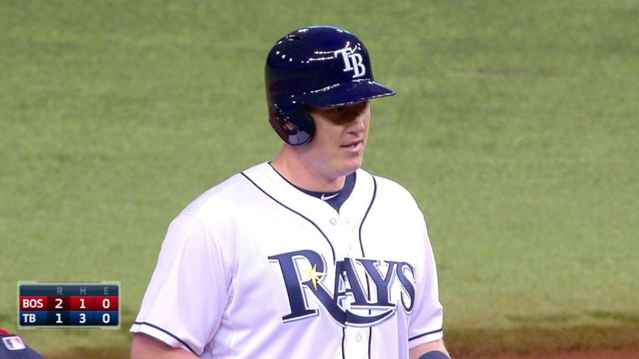 Krauss notches RBI in debut with Rays