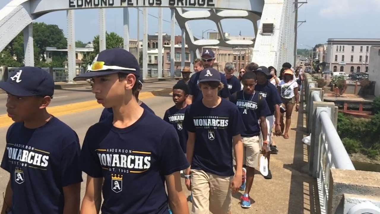Monarchs' journey reaches historic bridge in Selma