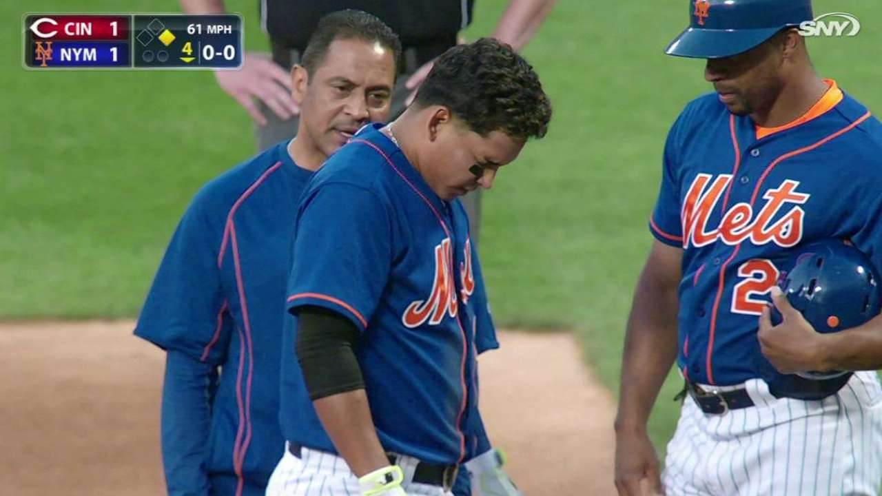 Tejada day to day with left elbow contusion