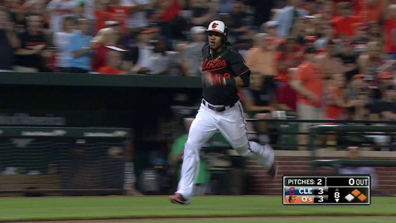 O's use late-inning magic to edge Indians