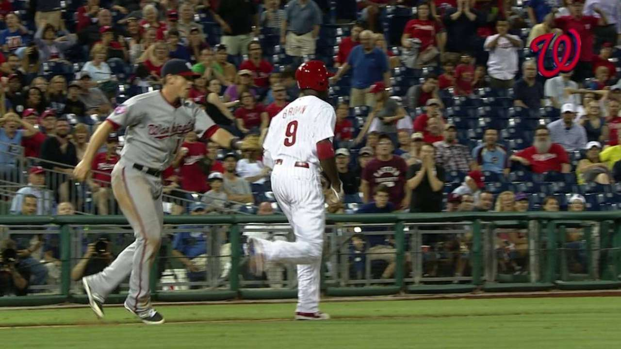 Nats run down Brown for win