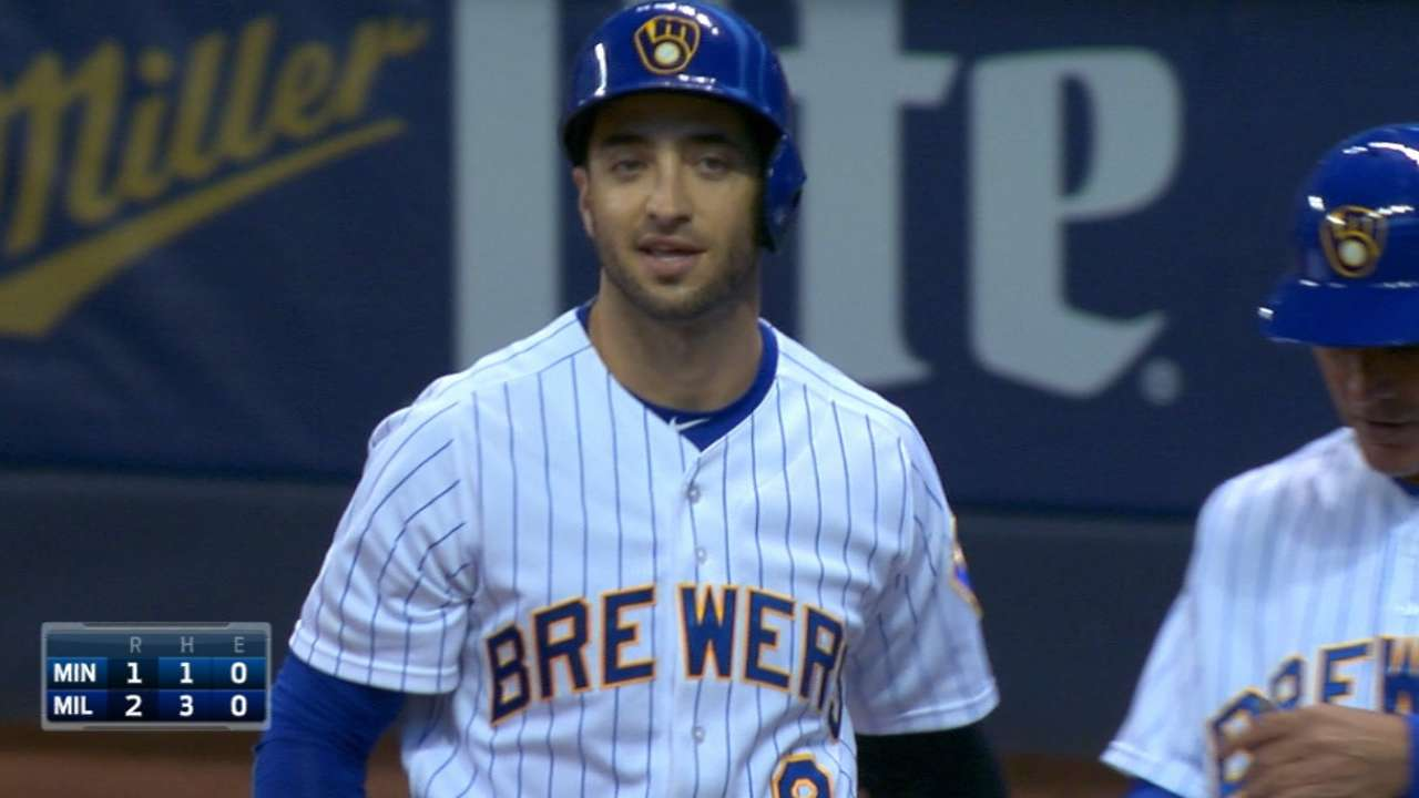 Brewers score six in 1st