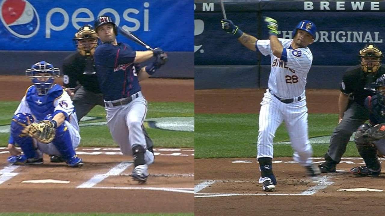 Dozier, Parra hit leadoff HRs in Twins-Crew tilt