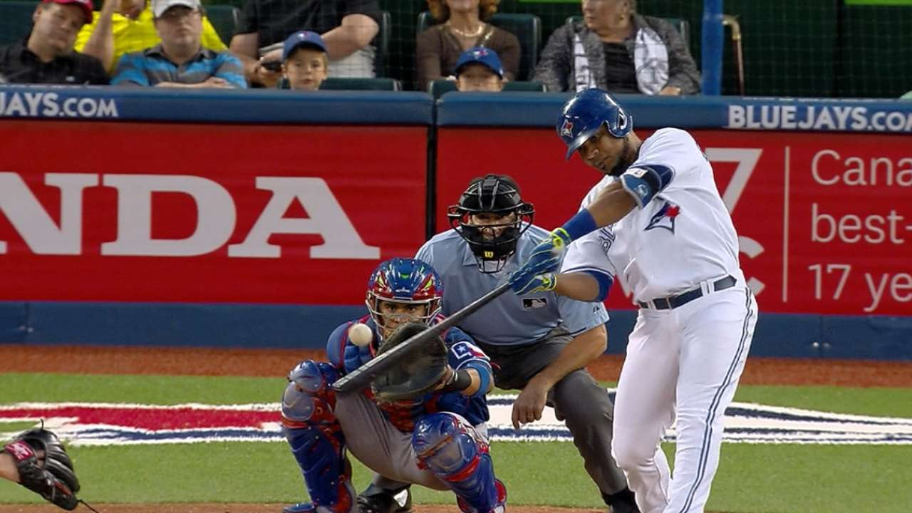 Encarnacion leads Toronto in rout of Rangers