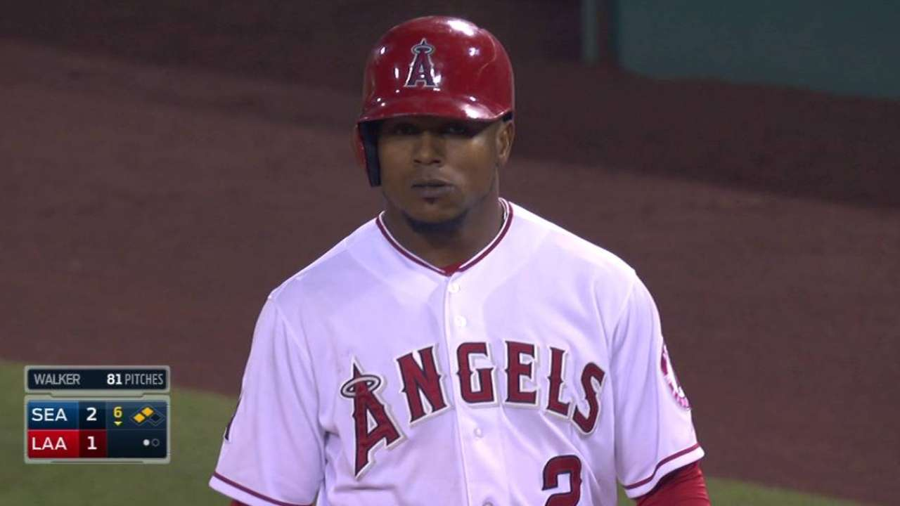 Aybar leaves with injury