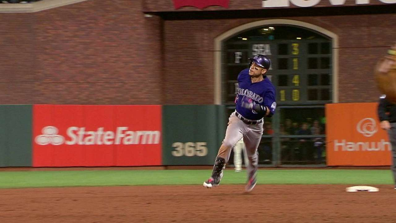 CarGo's triple in the 9th