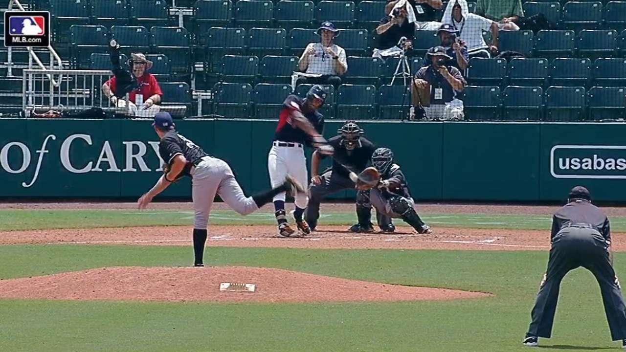 Benson's bases-loaded triple