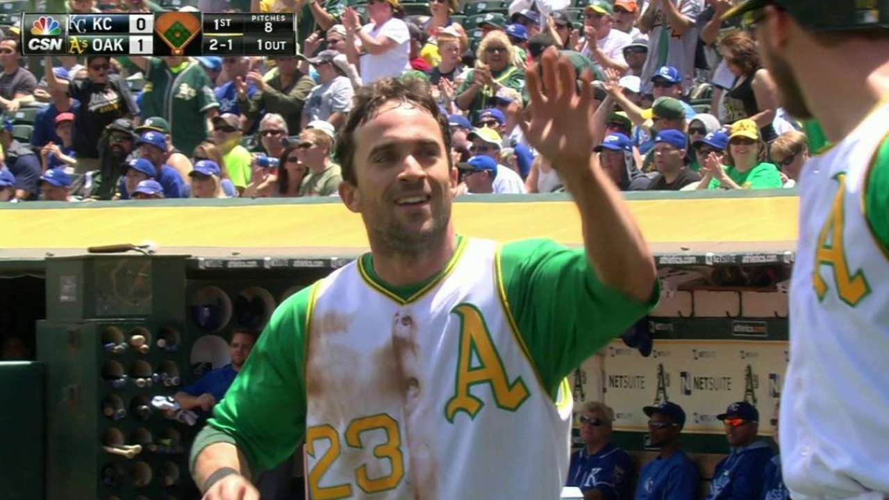 Fuld finds spark filling in at leadoff spot for A's
