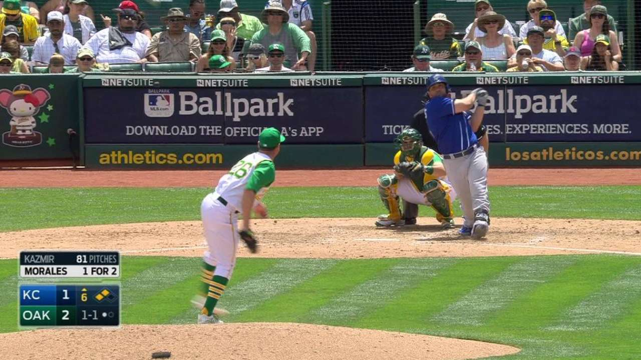 Resourceful Royals edge A's for series win