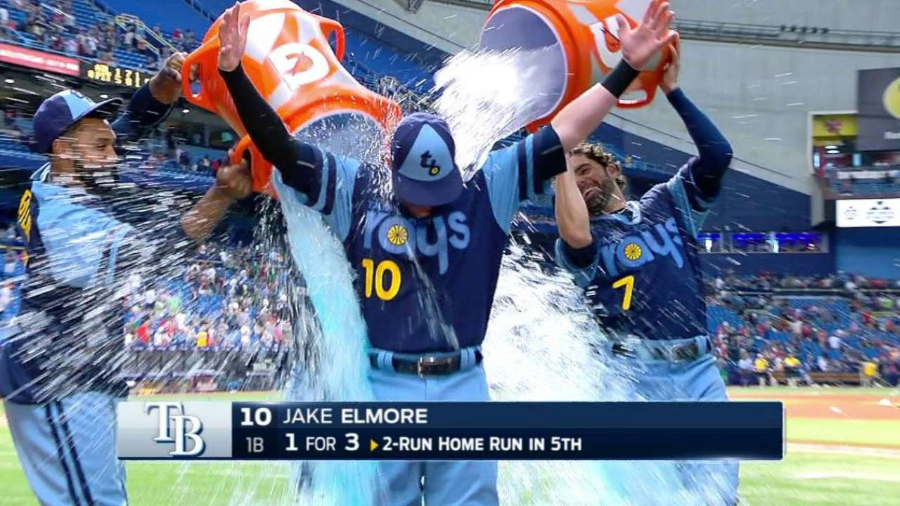 Elmore gets soaked after win