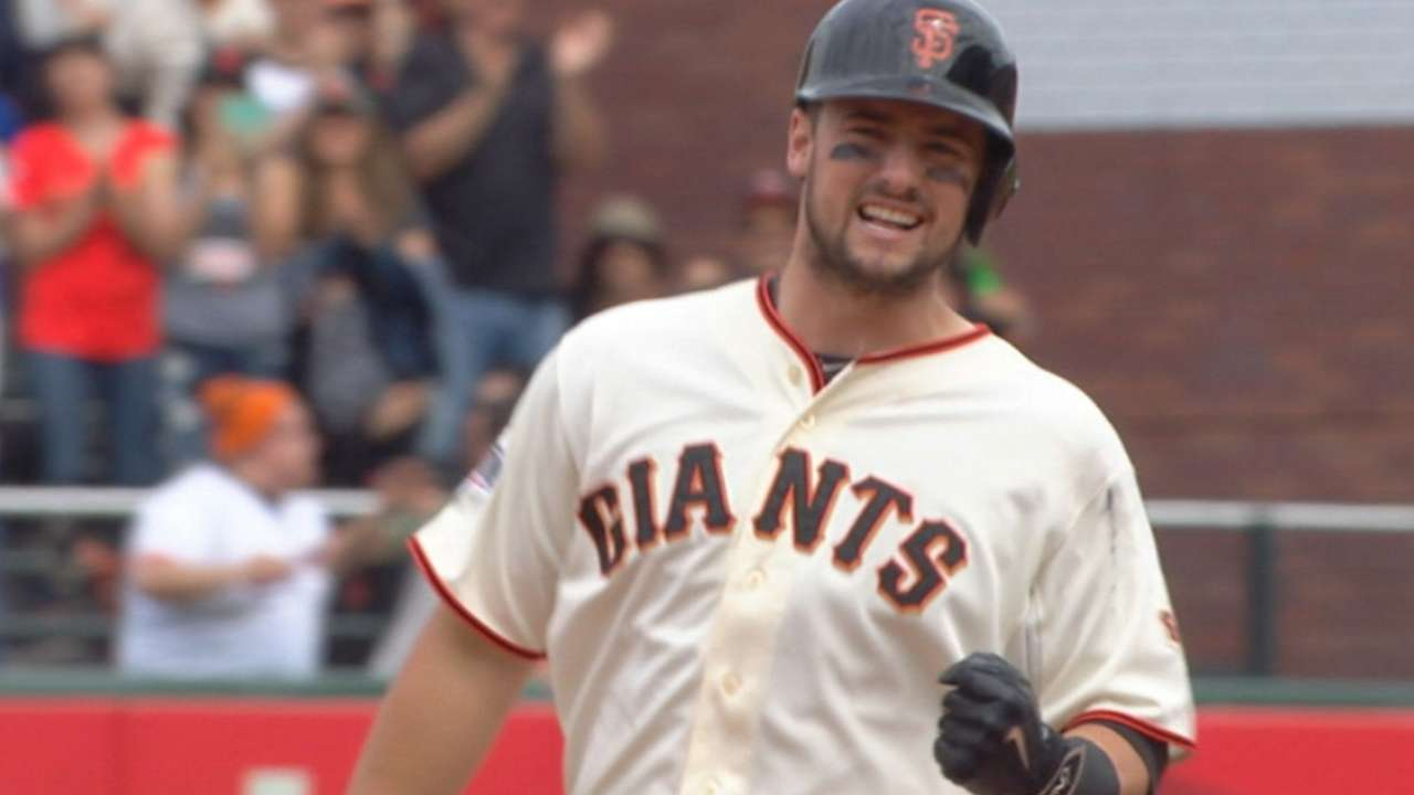 Giants' Susac clears bases to beat Rockies