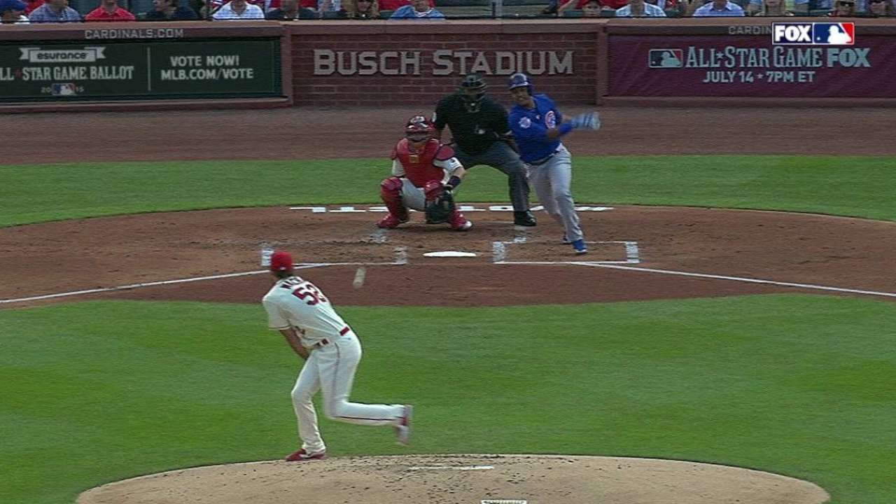 Wacha struck by liner, stays in