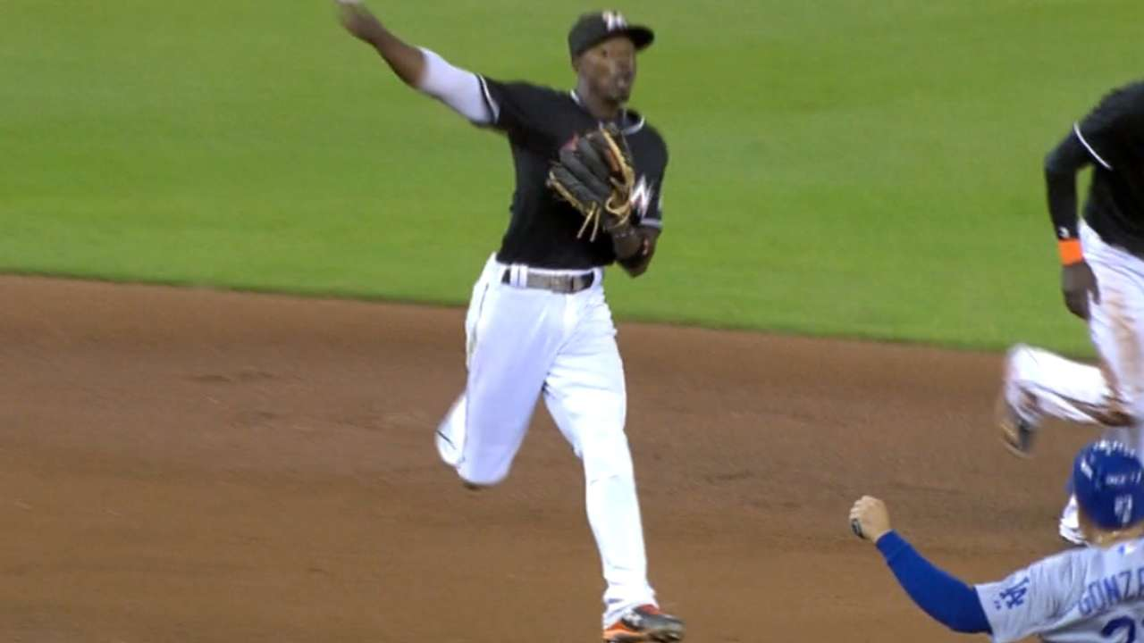 Gordon, Hechavarria lead Marlins' infield