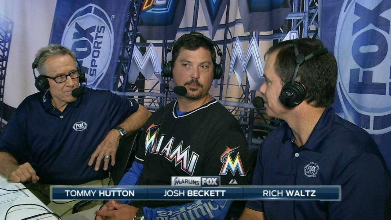 World Series hero Beckett honored in Miami