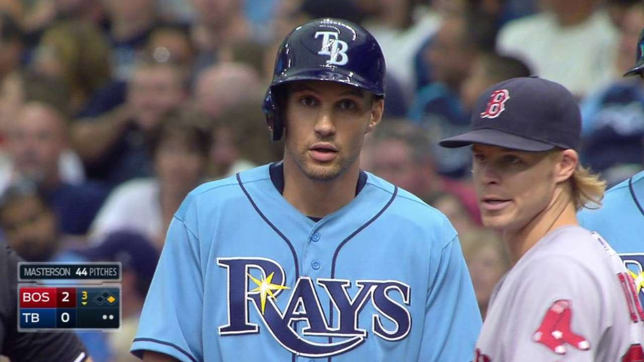 Sizemore singles in Rays' debut