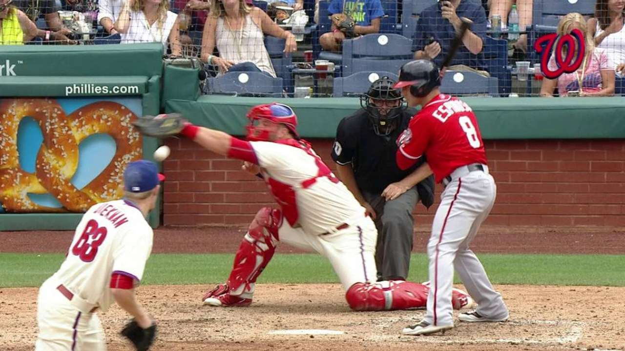 Uggla scores on passed ball