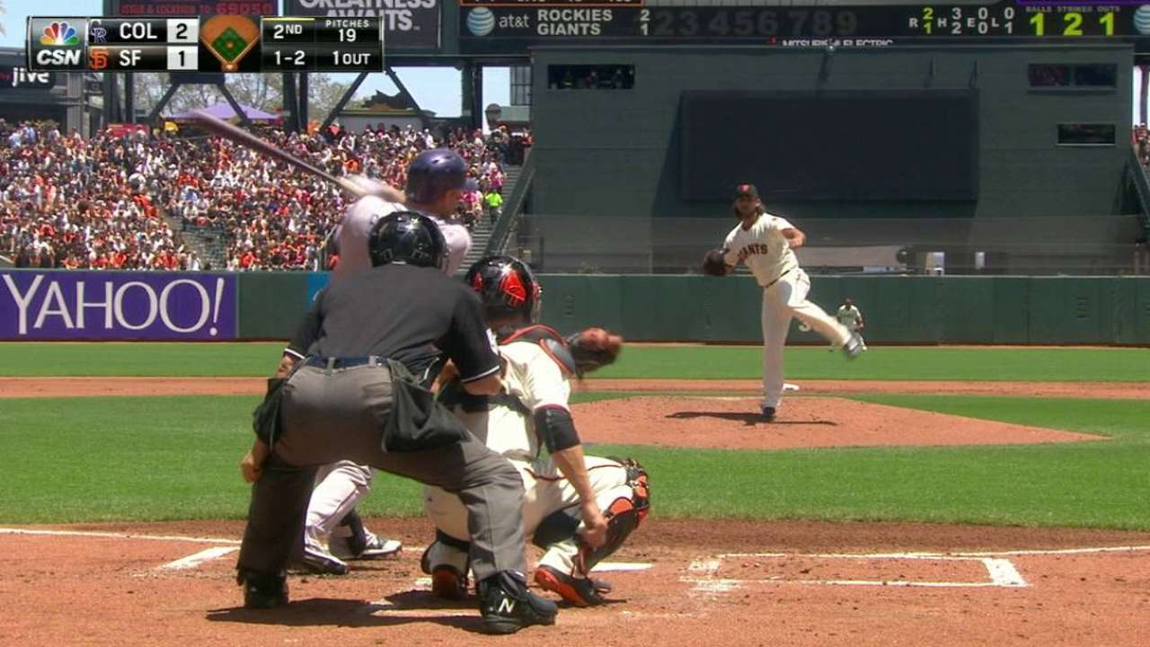 Bumgarner's 1,000th strikeout