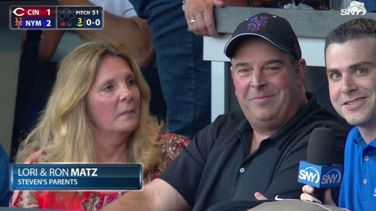 Matz's parents on son's debut