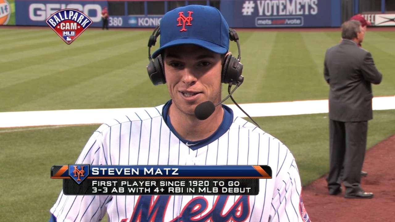 Matz back to business after surreal debut