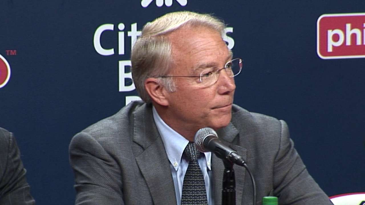 andy macphail to be phillies president mlb com macphail to be phillies president after season
